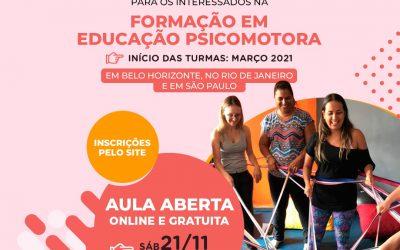 Aula Aberta para interessados na Formação em Educação Psicomotora em São Paulo